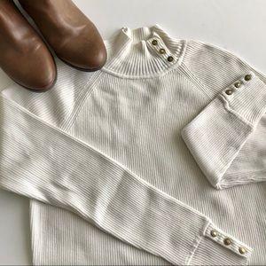 Vineyard Vines wool Ribbed Mock Sweater